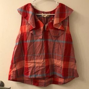 Anthropologie plaid tank top